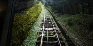 ケーブルカー線路