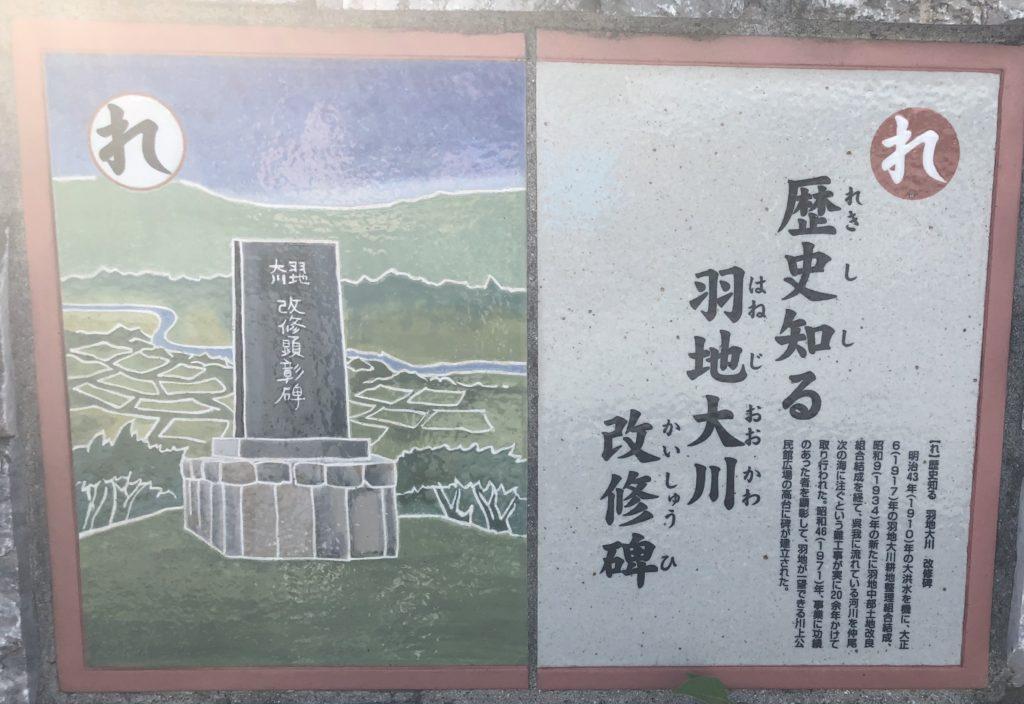 れ: 歴史知る 羽地大川 改修碑