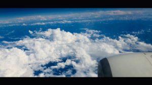 飛行機の車窓から
