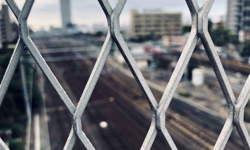 熱田駅の歩道橋から