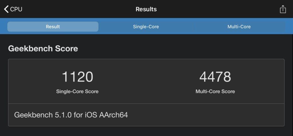 iPad Pro11インチベンチマーク