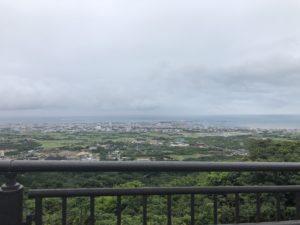 エメラルドの海を見る展望台からの展望