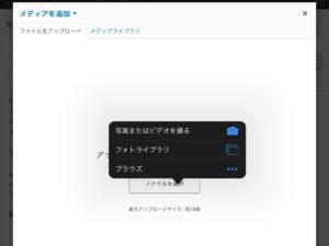 画像のアップロード、記事への挿入も可能