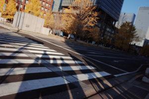 横断歩道と影