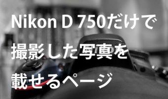 Nikon D 750だけで撮影した写真を載せるページ