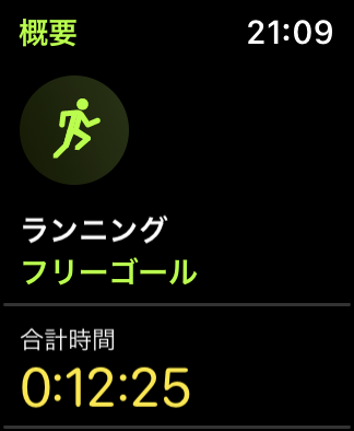 Nike Run Clubランニング結果画面