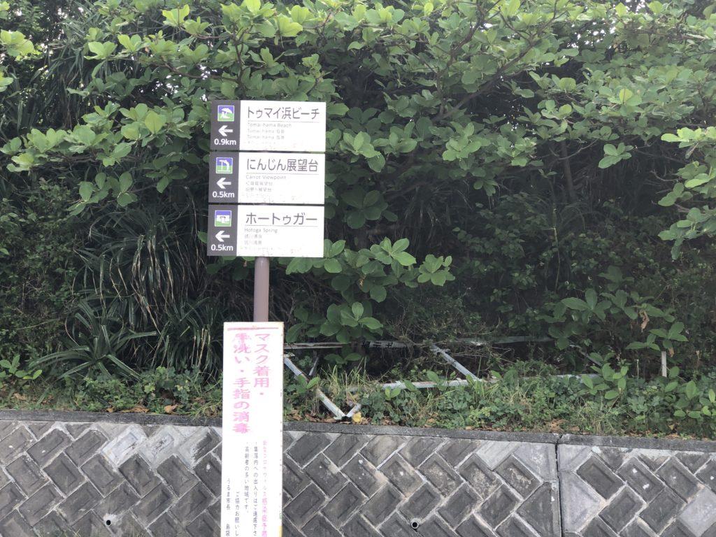 見所の方角を示す標識