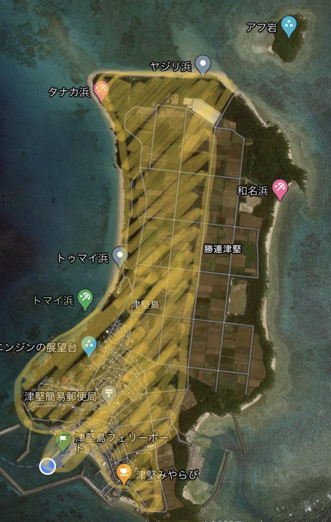 島の半分くらいは自転車で周遊できました