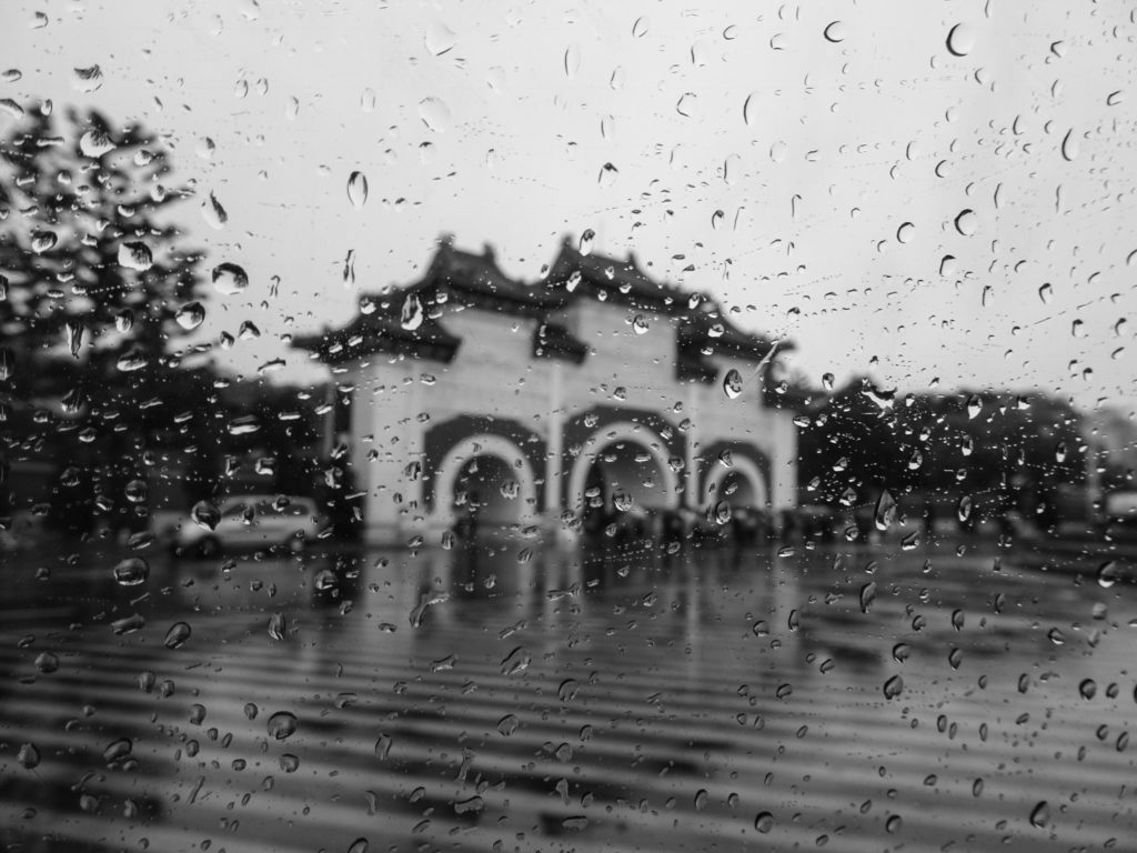 雨の日の台湾旅行