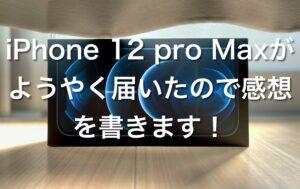 iPhone 12 Pro Max に機種変更したので今更ですが感想を書きます!